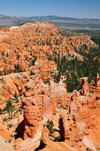 Bryce Canyon National Park, Utah, USA: Sunrise Point - hoodoos and distant views of the Black Mountains - photo by M.Torres