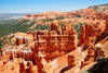 Bryce Canyon National Park, Utah, USA: Sunrise Point - red hoodoos - view south towards Navajo Mountain - photo by M.Torres