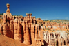 Bryce Canyon National Park, Utah, USA: Sunset Point - Thor's Hammer hoodoo and panorama of colorful limestone pinnacles - photo by M.Torres