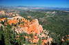 Bryce Canyon National Park, Utah, USA: Farview Point - red cliffs above the Dixie National Forest - the canyon's extremely high air quality allows visibility as far away as the Black Mesas in Arizona - photo by M.Torres