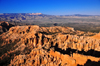Bryce Canyon National Park, Utah, USA: Bryce Point - view towards Boat Mesa - fins and hoodoos - photo by M.Torres