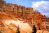 Bryce Canyon National Park, Utah, USA: Peek-A-Boo Loop Trail - natural windows are formed before the pinnacles separate and become hoodoos - photo by A.Ferrari