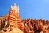 Bryce Canyon National Park, Utah, USA: Queens Garden Trail - rock fin agains a backdrop of hoodoos- photo by A.Ferrari