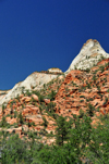Zion National Park, Utah, USA: white and red sandstone - Zion-Mt. Carmel Highway - photo by M.Torres