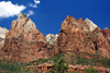Zion National Park, Utah, USA: Court of the Patriarchs - Navajo Sandstone - photo by A.Ferrari