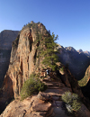 Zion National Park, Utah, USA: Angel's Landing - almost at the top - photo by B.Cain
