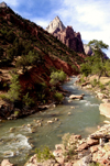 Zion National Park, Utah, USA: scenic view of the Virgin River - photo by B.Cain