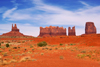 Monument Valley / Tsé Bii' Ndzisgaii, Utah, USA: King on his Throne, Stagecoach, Bear and Rabbit and Castle Rock - Navajo Nation Reservation - photo by A.Ferrari