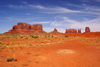 Monument Valley / Tsé Bii' Ndzisgaii, Utah, USA: Saddleback mesa, King on his Throne, Stagecoach, Bear & Rabbit and Castle Rock - Navajo Nation Reservation - photo by A.Ferrari