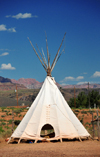 Virgin, Washington county, Utah, USA: Fort Zion Trading Post - Indian tepee - photo by M.Torres