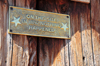 Virgin, Washington county, Utah, USA: Fort Zion Trading Post - humorous plaque - the events of 1897 - photo by M.Torres