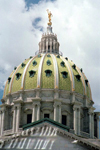 Harrisburg, Pennsylvania, USA: the Capitol's dome - photo by J.Kaman