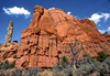 Kodachrome Basin State Park, Utah, USA: red rock formation and sedimentary pipe - Entrada sandstone - photo by C.Lovell