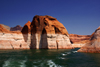 Lake Powell, Utah, USA: entering the canyon of Rainbow Bridge National Monument - photo by A.Ferrari