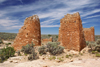 Hovenweep National Monument, Utah, USA: ruins of a fort of the Pueblo, or Anasazi, people - Cajon Mesa of the Great Sage Plain - photo by A.Ferrari