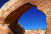 Monticello, Utah, USA: Wilson Arch - along the US 191 road to Moab - Entrada Sandstone - photo by A.Ferrari
