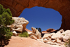 Arches National Park, Grand County, Utah, USA: entering Broken Arch - photo by A.Ferrari