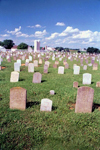 Pennsylvania, USA: Amish cemetery - Anabaptist tombs - headstones - photo by J.Kaman