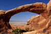 Arches National Park, Grand County, Utah, USA: Double O Arch and the valley from the Devil's Garden trail - photo by A.Ferrari