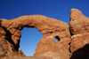 Arches National Park, Grand County, Utah, USA: Turret Arch if part of a castle-like formation - photo by A.Ferrari