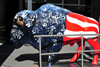 Oklahoma City, OK, USA: Devon Energy building - plastic buffalo with the American colors - North Broadway avenue - photo by M.Torres