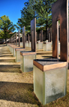 Oklahoma City, OK, USA: Oklahoma City National Memorial - Field of Empty Chairs - 168 vacant glass, bronze and stone chairs represent those who perished - photo by M.Torres