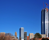 Oklahoma City, OK, USA: Business District - Devon Energy Tower dwarfs the rest of the downtown buildings - photo by M.Torres