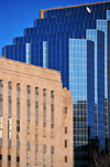 Oklahoma City, OK, USA: Oklahoma County Courthouse and Leadership Square - limestone vs. curtain glass - photo by M.Torres