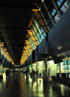 Oklahoma City, OK, USA: Will Rogers World Airport - late afternoon light in the terminal - IATA OKC - photo by M.Torres