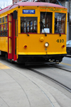 Little Rock, Arkansas, USA: Gomaco Trolley Company built replica vintage electric trolleys similar to Birney type streetcars - 410 - photo by M.Torres
