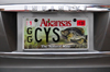 Little Rock, Arkansas, USA: Black Crappie - Pomoxis nigromaculatus - 'The Natural State' - image of a fish on an Arkansas license plate - Arkansas Game and Fish Commission - Infiniti - photo by M.Torres