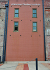 Little Rock, Arkansas, USA: Arkansas Studies Institute - rear fa�ade - brick wall - River Market district - photo by M.Torres