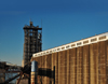 Portland, Oregon, USA: silos of the grain terminal by the Willamette River - CLD Pacific Grain  (Cargill and Louis Dreyfus) - grain elevator - photo by M.Torres