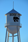 Boise City, Cimarron County, Oklahoma, USA: water tower with the town's logo - photo by M.Torres