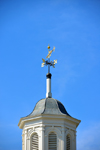 Mystic, CT, USA: weathervane on a building roof lantern, daylighting architectural element - photo by M.Torres