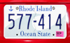 Cranstons Corner, North Kingstown, RI, USA:  Rhode Island license plate - Ocean State - photo by M.Torres