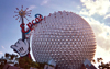 Epcot (Florida): the sphere at Epcot Centre - Geodesic Golfball - Spaceship Earth (photo by David Flaherty)