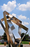 Jeffersonville, Clark County, Indiana, USA: abstract metal sculpture by the Southern Indiana Visitors Center - photo by M.Torres