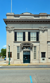 Jeffersonville, Clark County, Indiana, USA: Citizens Trust Company building on Spring Street - Classic Federalist limestone bank - photo by M.Torres