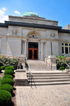 Jeffersonville, Clark County, Indiana, USA: Carnegie Library building on Warder Park - 1903 neoclassical structure designed by architect Arthur Loomis - photo by M.Torres