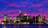 Boston (Massachusetts, New England): skyline - dusk - photo by H.Waxman