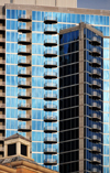 Charlotte, North Carolina, USA: Avenue Condominiums - residential tower on Church Street - photo by M.Torres