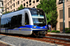 Charlotte, North Carolina, USA: Commuter Train - Light-Rail LYNX train - photo by M.Torres