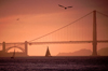 San Francisco (California): Golden Gate bridge at sunset - - photo by F.Rigaud