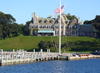 Newport (Rhode Island): Harbor Court - now the New York Yacht Club - photo by G.Frysinger