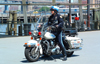 Manhattan (New York): motorcycle policeman (photo by Llonaid)