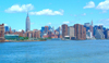 Manhattan (New York): seen from the East River (photo by Llonaid)