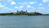 New York, USA: Ellis Island - from the ferry - photo by Llonaid