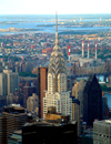 Manhattan, New York, USA: Chrysler building from the Empire State - photo by Llonaid