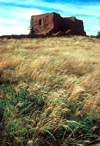 Pecos National Historical Park/ Pecos National Monument (New Mexico): ruins of the Spanish mission near Pecos Pueblo - photo by J.Fekete